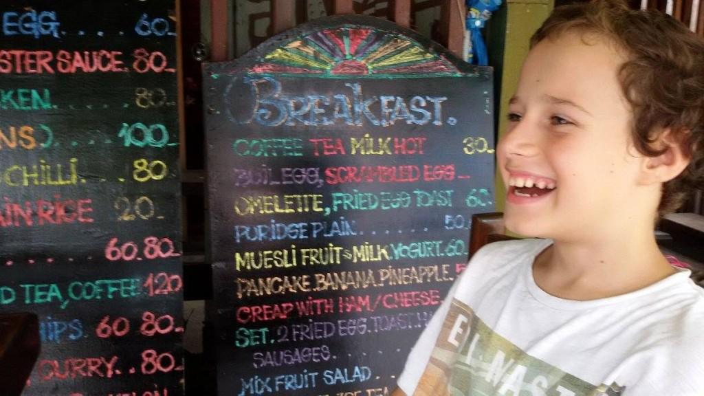 """Nepáli """"éttermi"""" kínálat..."""